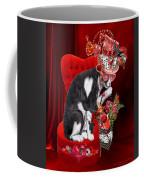 Cat In The Valentine Steam Punk Hat Coffee Mug