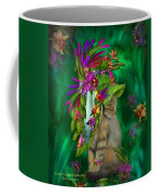 Cat In Tropical Dreams Hat Coffee Mug