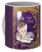 Cat In Victorian Santa Hat Coffee Mug
