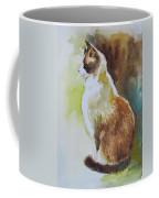 White And Brown Cat Coffee Mug