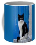Cat On A Greek Island Coffee Mug