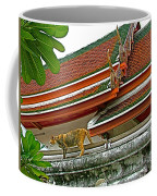Cat On A Wat Po Roof In Bangkok-thailand Coffee Mug