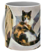 Cat On Chair Coffee Mug
