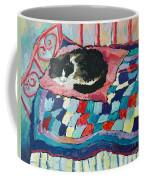 Cat On Pink  Coffee Mug