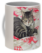 Cat On Quilt  Coffee Mug