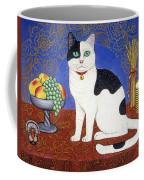 Cat On Thanksgiving Table Coffee Mug