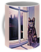 Cat On Window Sill Coffee Mug