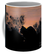 Cat - Orange - Silhouette Coffee Mug