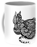 Cat With Design Coffee Mug