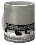 Catamaran Anchored At Old Bahia Honda Bridge Coffee Mug