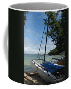 Catamaran On The Beach Coffee Mug