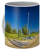 Catamaran Sailboats On The Beach At Muskegon No. 601 Coffee Mug