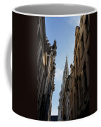 Catching A Glimpse Of Grand Place Brussels Belgium Coffee Mug