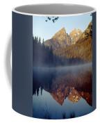 4m9304-cathedral Group Reflection, Tetons, Wy Coffee Mug