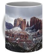 Cathedral Rock In Winter Arizona Coffee Mug