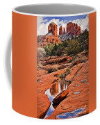 Cathedral Rock In Winter Coffee Mug