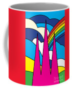Cathedral Spires Stained Glass Lichfield Coffee Mug