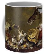 Cats Fighting In A Larder Coffee Mug