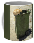 Cats On And In Garbage Container Coffee Mug