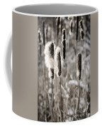 Cattails In Winter Coffee Mug by Elena Elisseeva