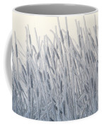 Cattails Typha Latifolia Covered In Snow Coffee Mug