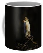 Cattle Egret On Limb Coffee Mug
