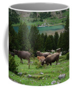 Cattle Grazing In The Pyrenees Coffee Mug