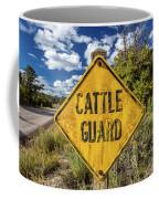 Cattle Guard Road Sign Coffee Mug