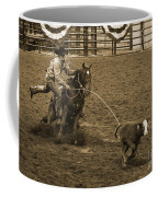 Cattle Roping In Colorado Coffee Mug