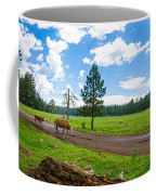 Cattles Roaming Through Hawley Lake Arizona Coffee Mug