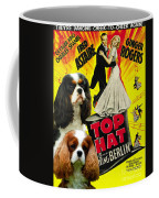 Cavalier King Charles Spaniel Art - Top Hat Movie Poster Coffee Mug