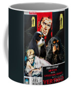 Cavalier King Charles Spaniel Art - Vertigo Movie Poster Coffee Mug