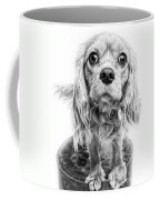 Cavalier King Charles Spaniel Puppy Dog Portrait Coffee Mug