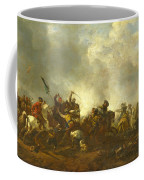 Cavalry Attacking Infantry Coffee Mug