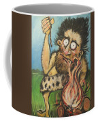 Caveman And Fire Coffee Mug