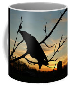 Cawcaw Over Sunset Silhouette Art Coffee Mug