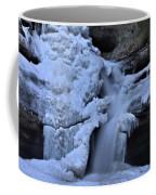 Cedar Falls In Winter At Hocking Hills Coffee Mug by Dan Sproul