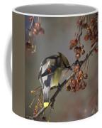 Cedar Waxwing Eating Berries 7 Coffee Mug