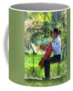 Cellist In The Garden Coffee Mug