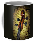 Cello Scroll With Sheet Music Coffee Mug