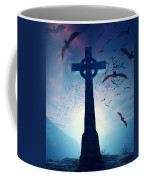 Celtic Cross With Swarm Of Bats Coffee Mug