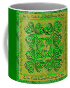 Celtic Irish Clover Home Blessing Coffee Mug