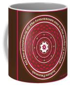 Celtic Lotus Mandala In Pink And Brown Coffee Mug