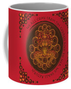 Celtic Pagan Fertility Goddess In Red Coffee Mug