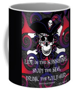 Celtic Spiral Pirate In Blues And Reds Coffee Mug