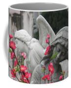 Cemetery Stone Angels And Flowers Coffee Mug