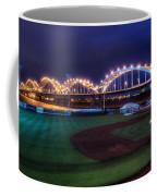 Centennial Bridge And Modern Woodmen Park Coffee Mug by Scott Norris