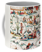 Central Asia Pierre Descelierss Map Coffee Mug by Photo Researchers