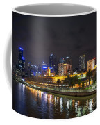 Central Melbourne Skyline At Night Australia Coffee Mug