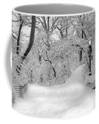 Central Park Dressed Up In White Coffee Mug